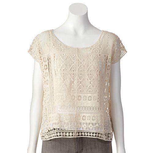 91c2b73196c583 LC Lauren Conrad Crochet Crop Top