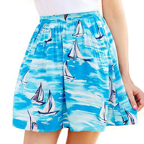 LC Lauren Conrad Sailboat Pull-On Skirt
