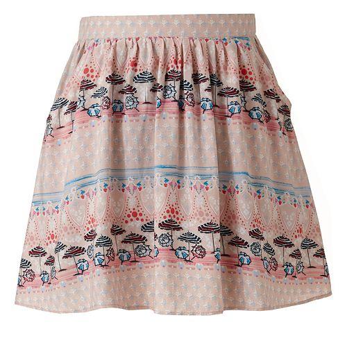 LC Lauren Conrad Umbrella Pull-On Skirt
