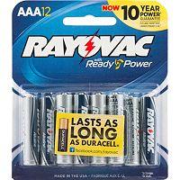 Rayovac 12-pk. AAA Alkaline Batteries