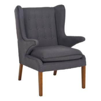 Safavieh Gomer Gray Arm Chair