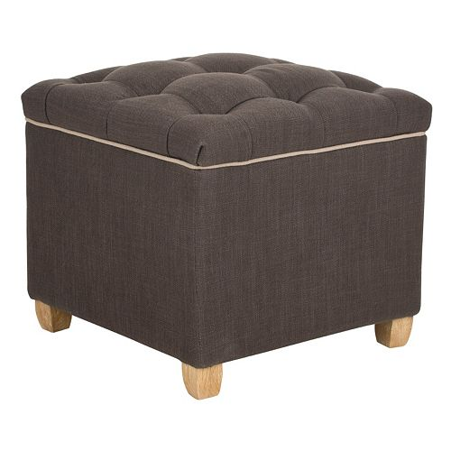 Safavieh Joanie Two-Tone Storage Ottoman