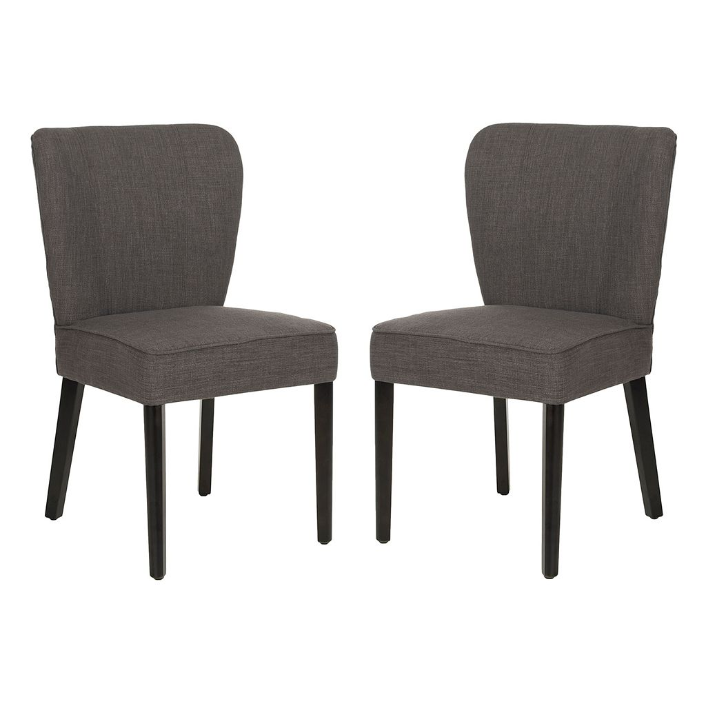 Safavieh 2-pc. Clifford Charcoal Brown Side Chair Set