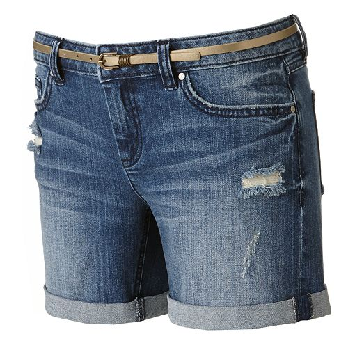 LC Lauren Conrad Cuffed Denim Shorts - Women's