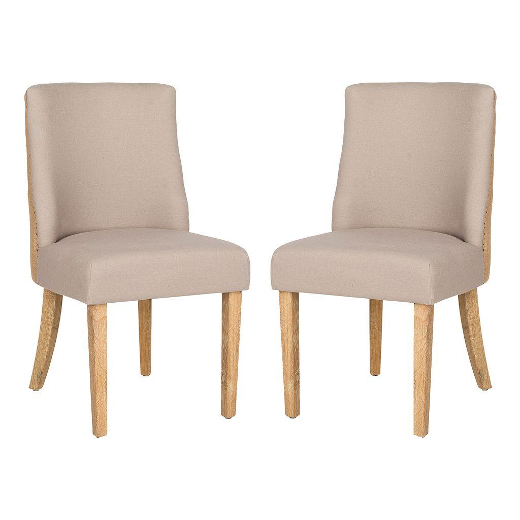 Safavieh 2-pc. Judy Taupe Side Chair Set