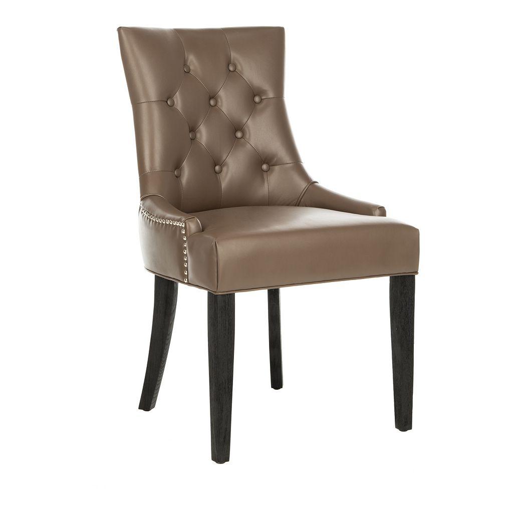 Safavieh 2-piece Abby Bicast Leather Side Chair Set