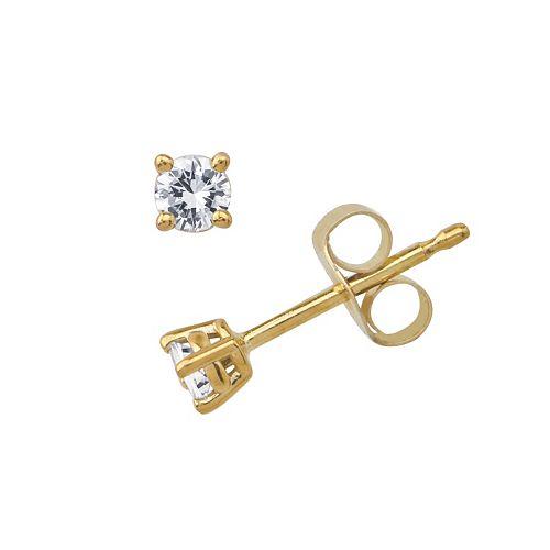 10k Gold 1/10-ct. T.W. Diamond Stud Earrings