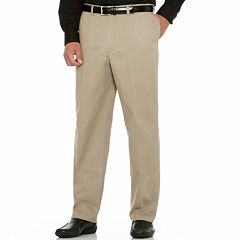 Big & Tall Savane Performance Straight-Fit Flat-Front Pants