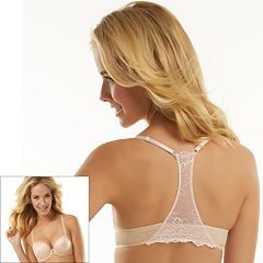 Jezebel Bra: Caress Front-Closure Lace-Trim Racerback Push-Up Bra 23533 - Women's