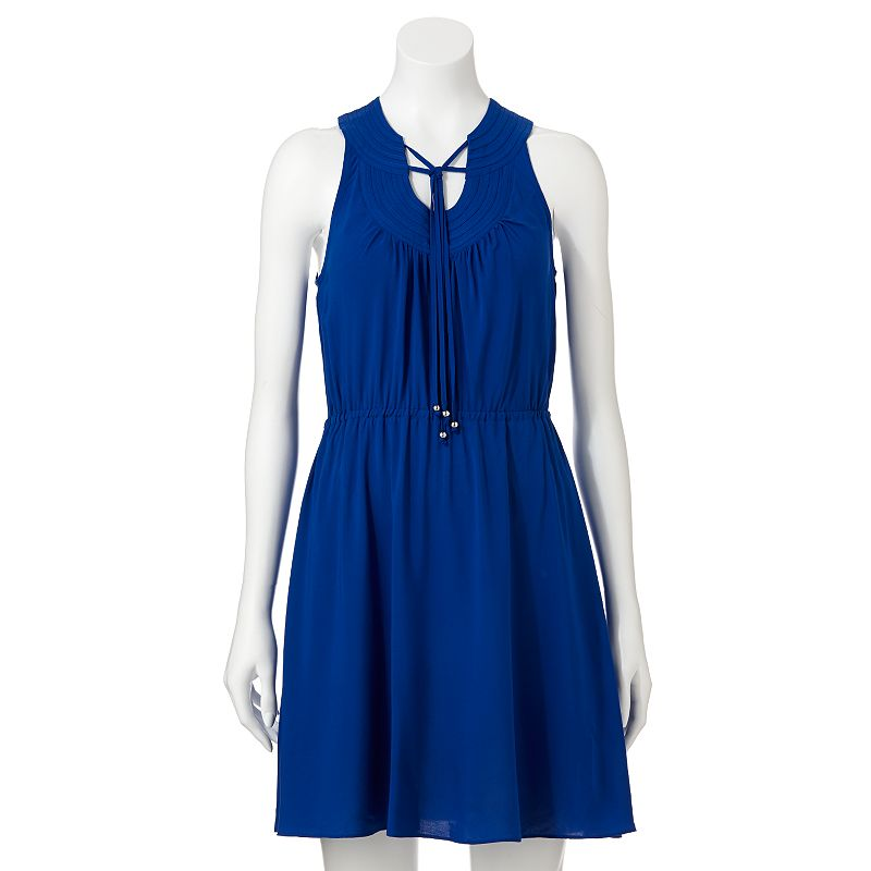 ELLE Solid Tie Dress