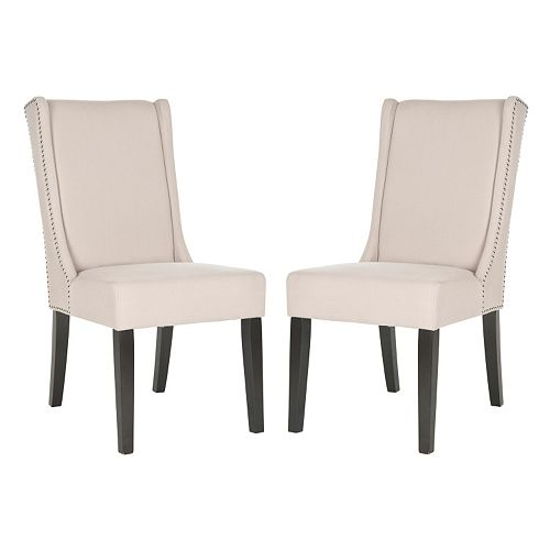 Safavieh 2-pc. Sher Linen Side Chair Set