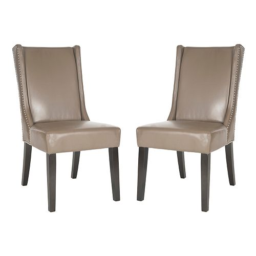 Safavieh 2-pc. Sher Leather Side Chair Set
