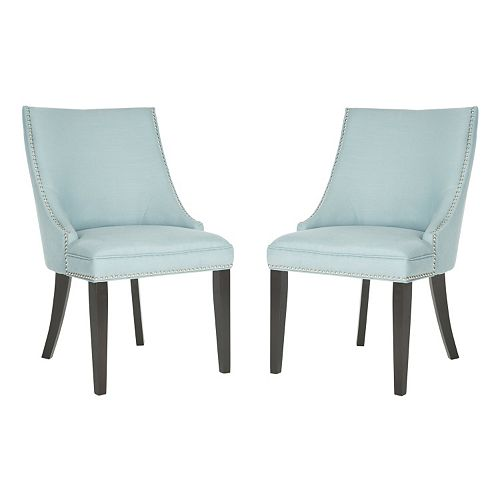Safavieh 2-pc. Afton Light Blue Side Chair Set