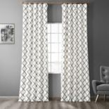EFF Pavillion Flocked Faux-Silk Window Panel