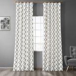 EFF 1-Panel Pavillion Flocked Faux-Silk Window Panel