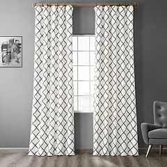 EFF 1-Panel Pavillion Flocked Faux-Silk Window Panel