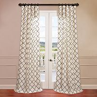 EFF Pavillion Flocked Faux-Silk Window Panel - 50'' x 120''