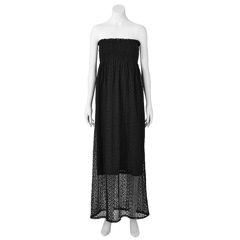 JJ Basics Crochet Maxi Dress - Juniors