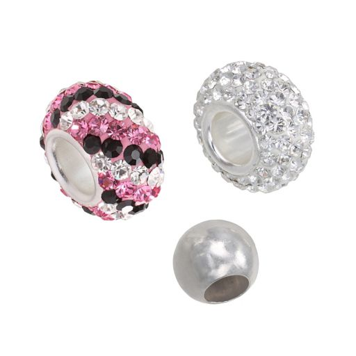 Individuality Beads Sterling Silver Crystal and Spacer Bead Set