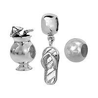 Individuality Beads Sterling Silver Cocktail, Flip-Flop & Spacer Bead Set