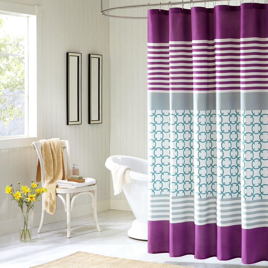 Intelligent Design Lacey Fabric Shower Curtain