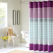 Intelligent Design Lacey Fabric Shower Curtain