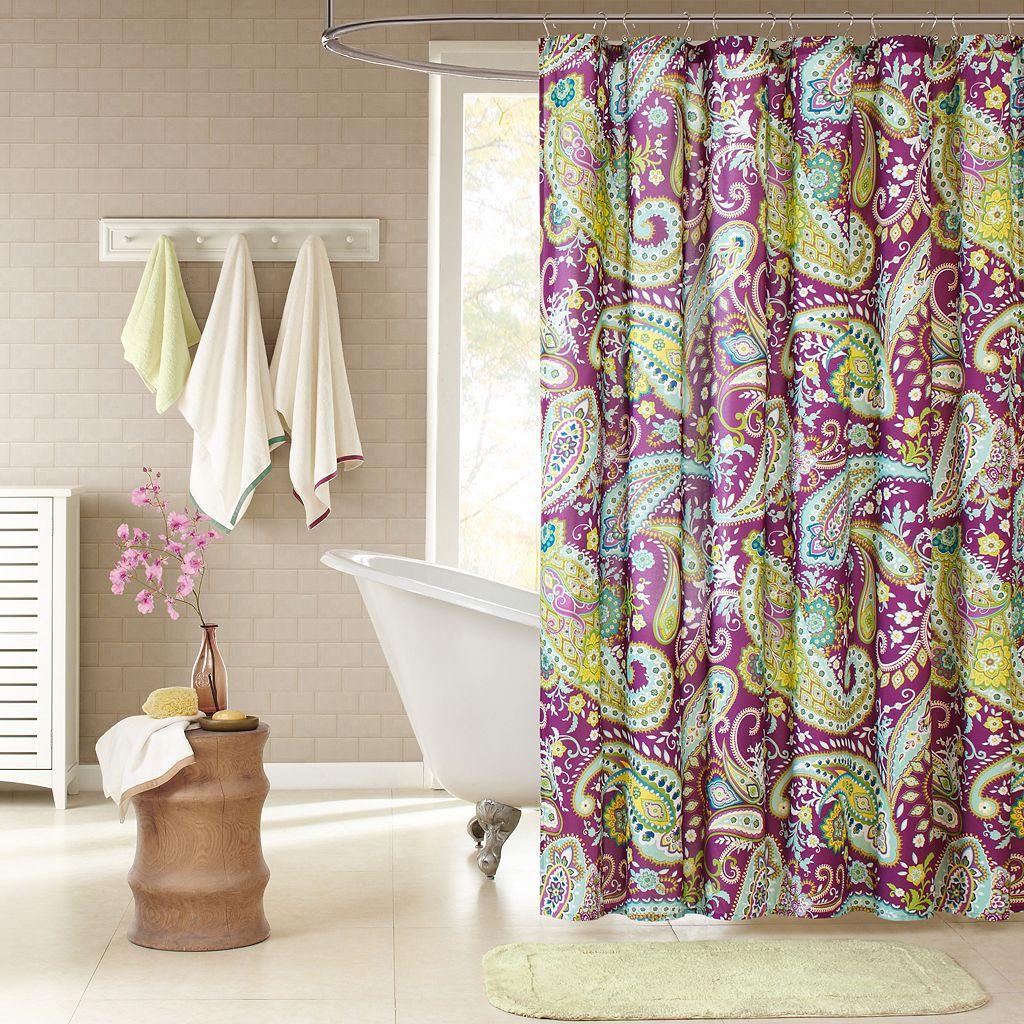 Intelligent Design Kayla Fabric Shower Curtain