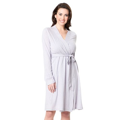 c12bae7a9e9 Maternity Oh Baby by Motherhood™ Solid Nursing Robe   Chemise Set