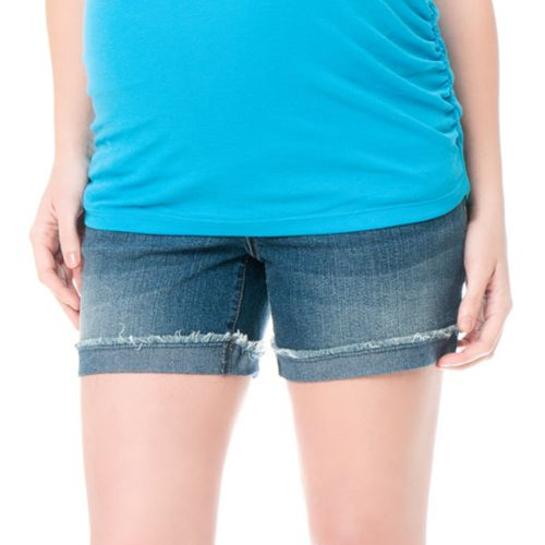 Oh Baby by Motherhood™ Secret Fit Belly Frayed Cuff Denim Shorts - Maternity