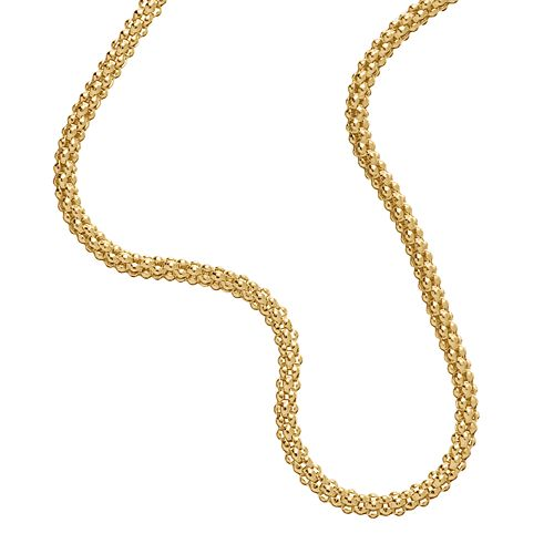 Everlasting Gold 14k Gold Round Popcorn Chain Necklace - 20-in.