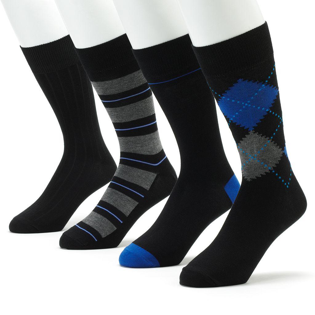 Men's Croft & Barrow® 4-pk. Patterned Casual Socks