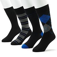 Men's Croft & Barrow® 4 pkPatterned Casual Socks