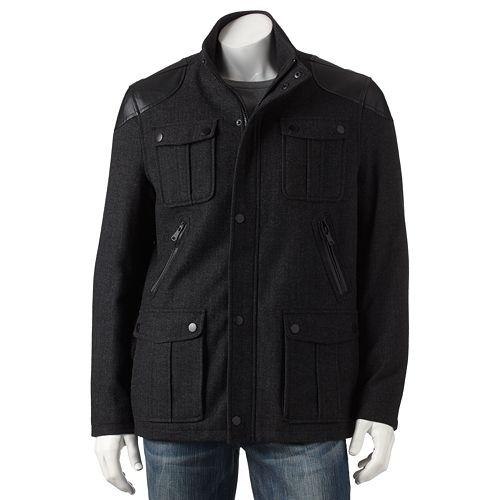 Apt. 9® Wool-Blend Herringbone Jacket - Men