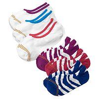 GOLDTOE 6-pk. Striped & Solid Liner Socks - Girls