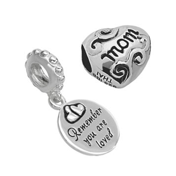 Individuality Beads Sterling Silver Mom Charm & Bead Set