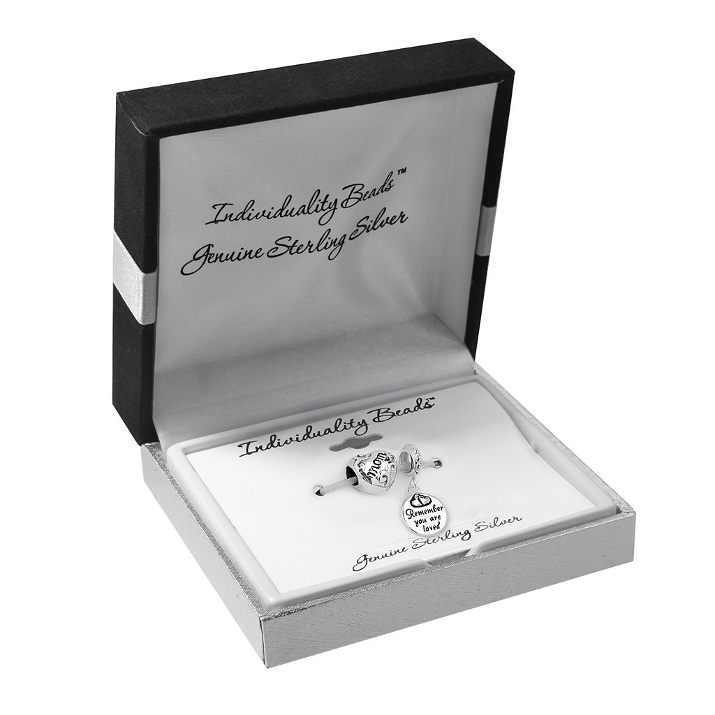 Individuality Beads Sterling Silver Mom Charm and Bead Set