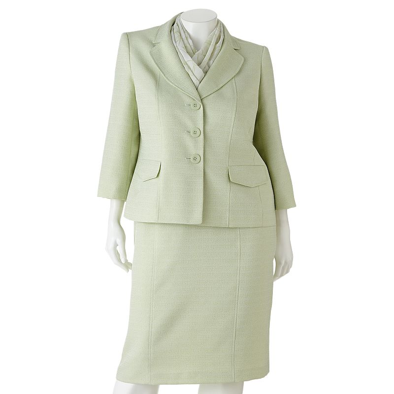 Gloria Vanderbilt Tweed Suit Set - Women's Plus