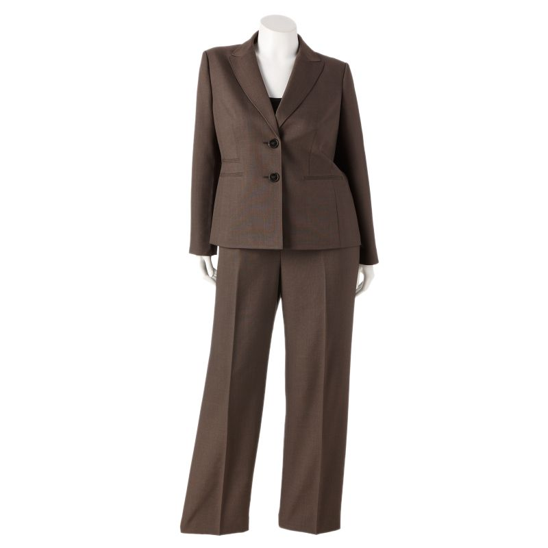 Gloria Vanderbilt Solid Suit Jacket & Pant Set - Women's Plus