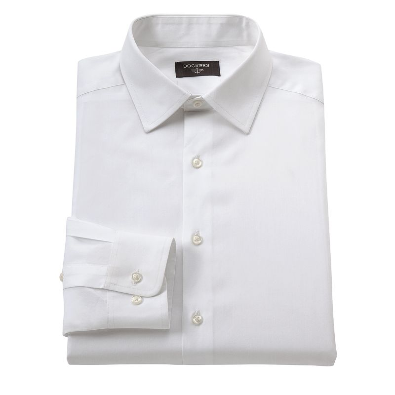 Dockers® Classic-Fit Solid No-Iron Spread-Collar Dress Shirt - Men