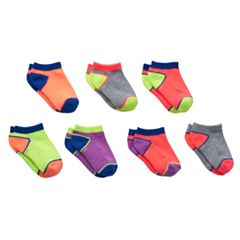 Girls 4-16 SO® 7 pkNeon Colorblock Low-Cut Socks