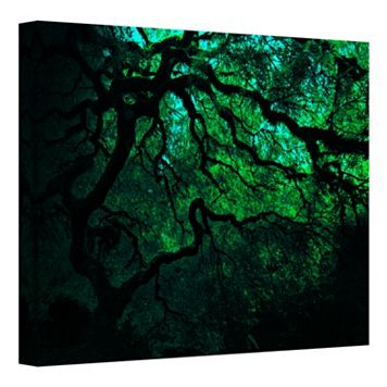 36'' x 48'' ''Japanese Dark Tree'' Large Canvas Wall Art by John Black