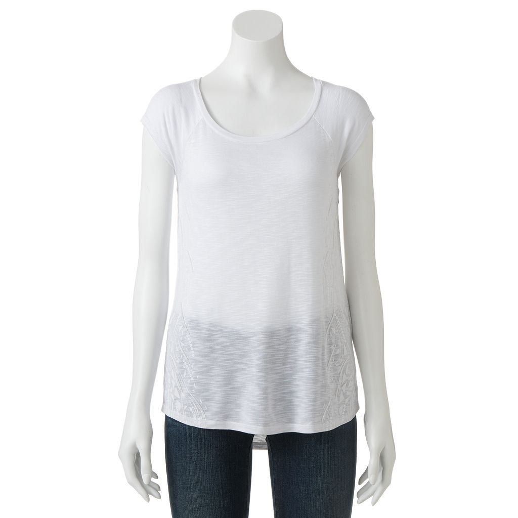 Apt. 9® Embellished Slubbed Tee - Women's