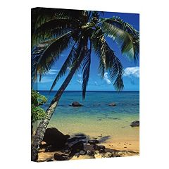 12'' x 18'' ''Beautiful Animi Beach'' Canvas Wall Art by Kathy Yates
