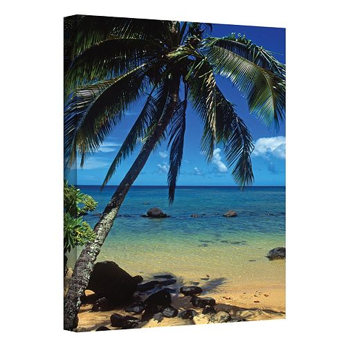 24'' x 36'' ''Beautiful Animi Beach'' Canvas Wall Art by Kathy Yates