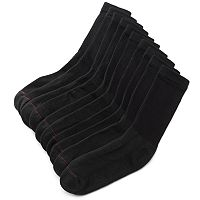 Men's Hanes 10-pk. Black Crew Socks