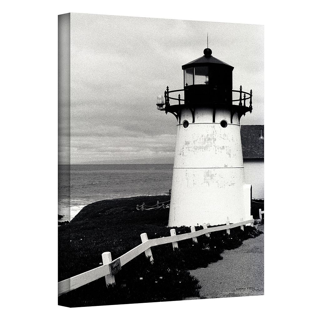 18'' x 12'' ''Montara Lighthouse'' Canvas Wall Art by Kathy Yates