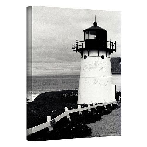 18'' x 12'' ''Montara Lighthouse'' Canvas Wall Art by Kathy Yates