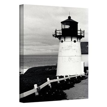 48'' x 32'' ''Montara Lighthouse'' Canvas Wall Art by Kathy Yates