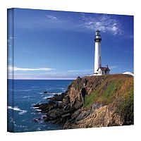 12'' x 18'' ''Pigeon Point Lighthouse'' Canvas Wall Art by Kathy Yates