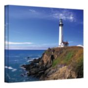 16'' x 24'' ''Pigeon Point Lighthouse'' Canvas Wall Art by Kathy Yates